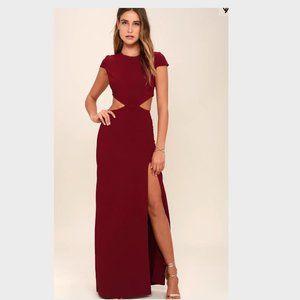 Lulu's Maroon Long Dress (TAGS ON NEVER BEEN WORN)